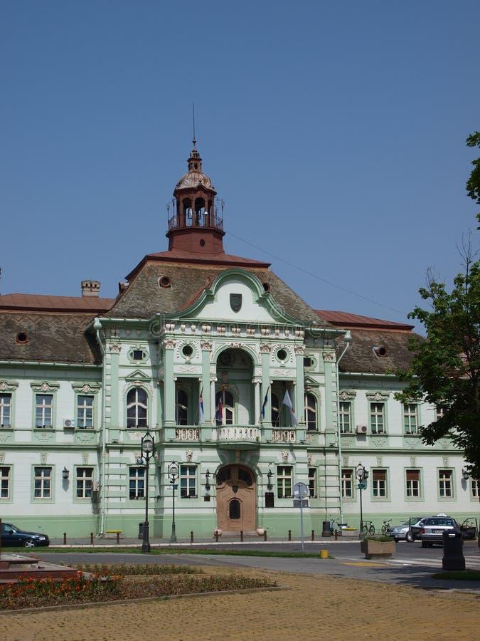 Hôtel de ville de Zrenjanin, Serbie photos libres de droits