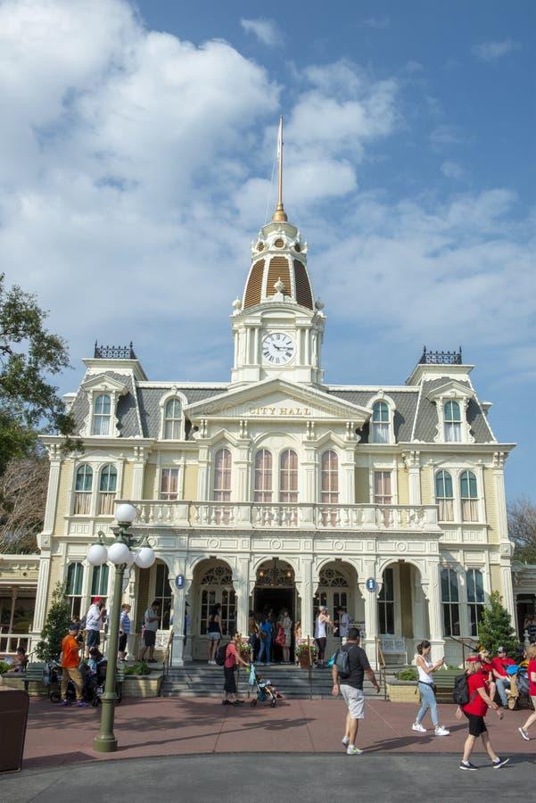Hôtel de Ville, Disney World, voyage, royaume magique photographie stock libre de droits