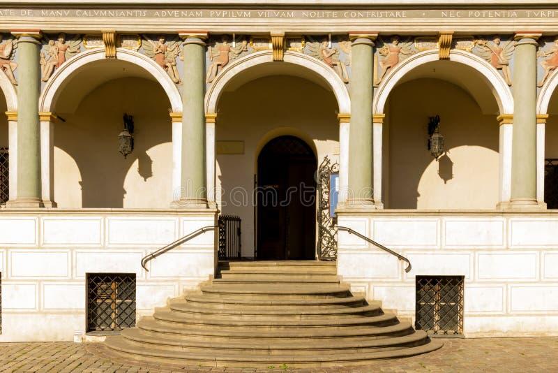 Hôtel de ville. Entrée. Poznan. La Pologne images stock