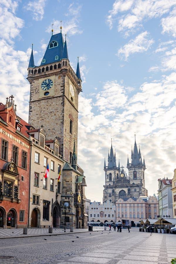 Hôtel de Ville et vieille place à Prague, République Tchèque images stock