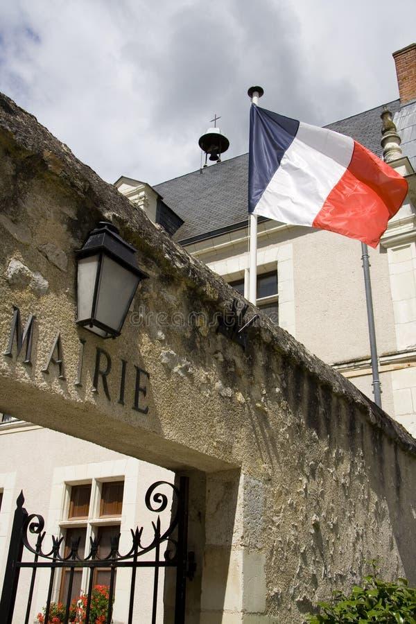 Hôtel de ville français image stock