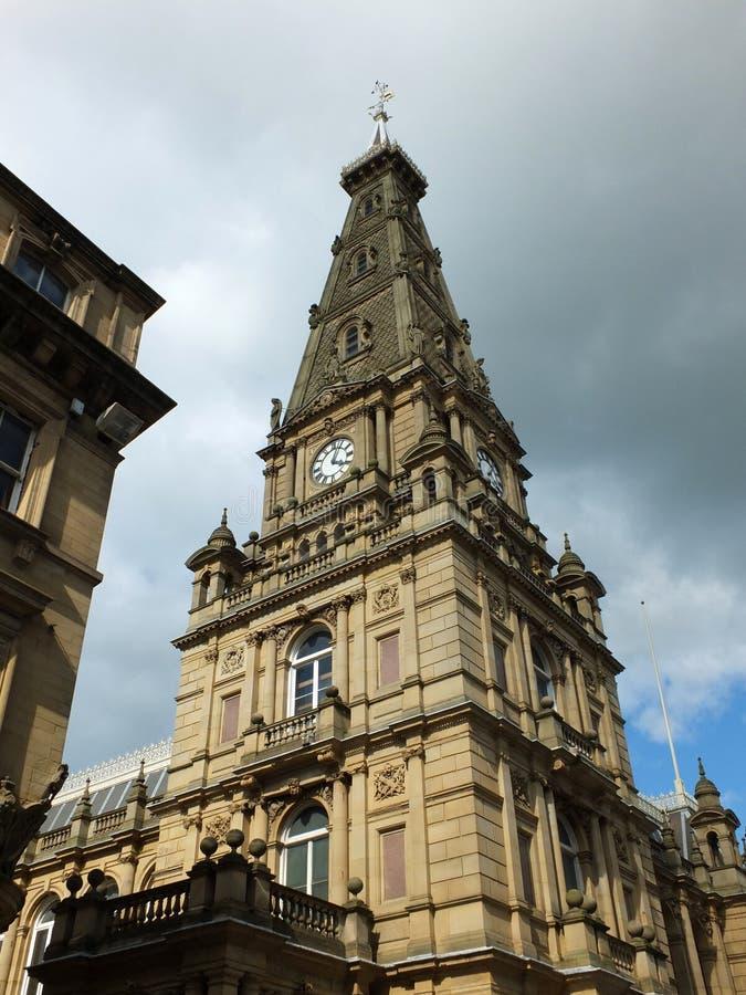 Hôtel de ville de Halifax dans le hall de West Yorkshire de calderdale photographie stock libre de droits