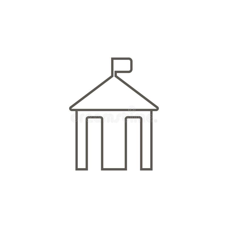 Hôtel de ville, icône de silhouette Illustration simple d'?l?ment de carte et de concept de navigation Hôtel de ville, icône de s illustration stock