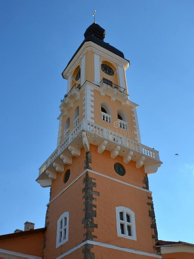Hôtel de ville, la ville de Kamenets Podolsk photo stock