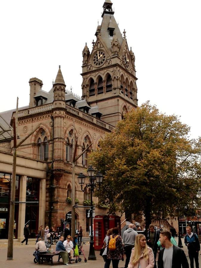 Hôtel de ville médiéval de Chester images libres de droits