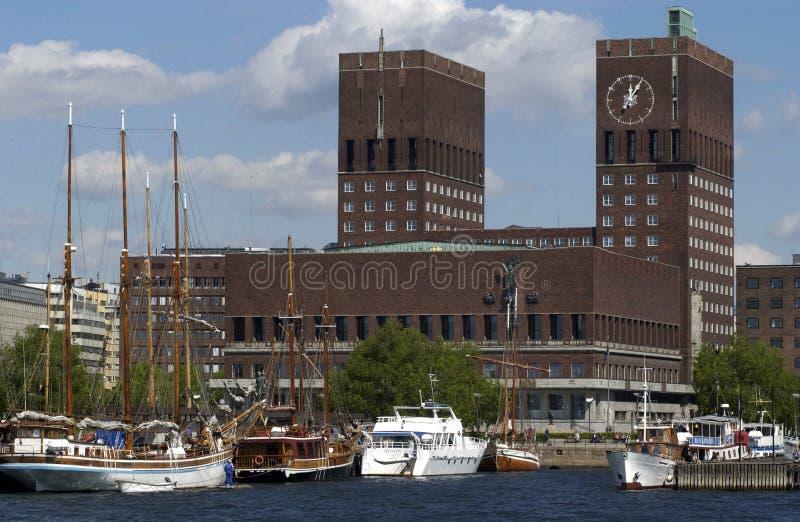 hôtel de ville Oslo images libres de droits