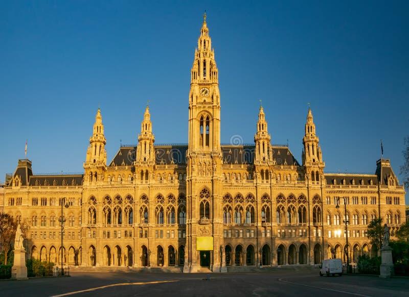 H?tel de Ville de Vienne au matin ensoleill?, Autriche photo libre de droits