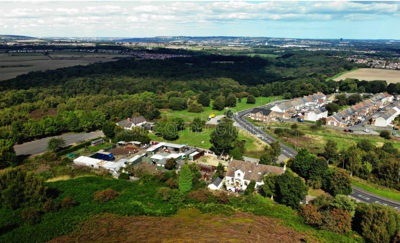Hôtel de ville de village de Waldridge Chester le street R-U image stock