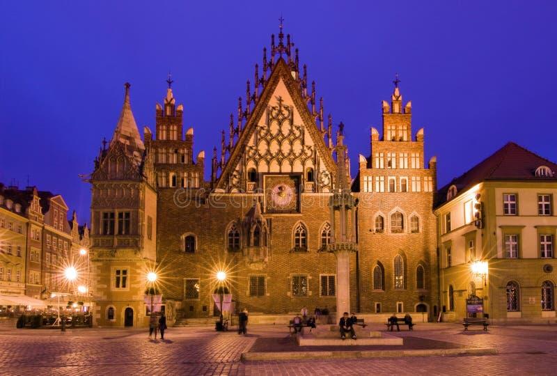 Hôtel de ville, Wroclaw en Pologne image stock