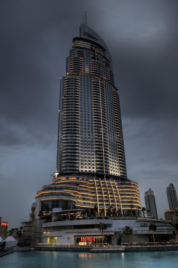 hôtel du Dubaï d'adresse photo libre de droits