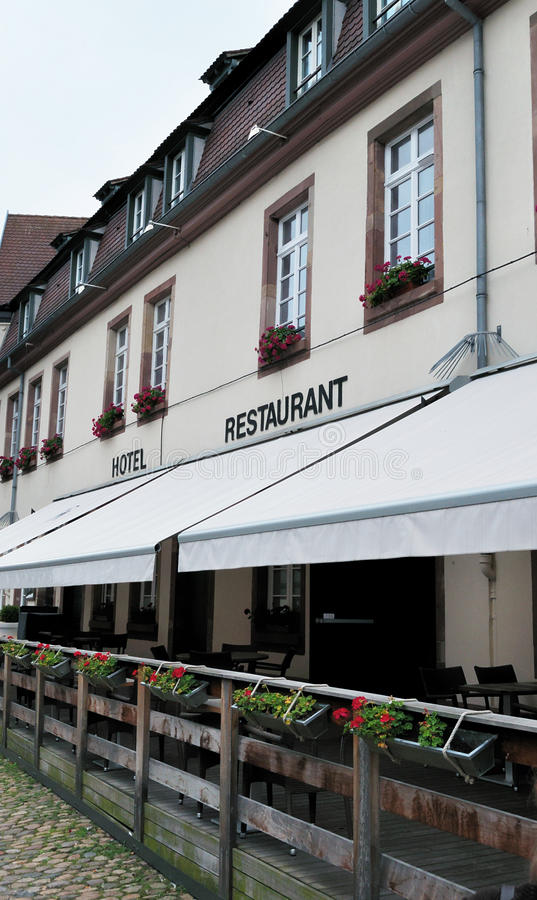 Hôtel et restaurant photos stock