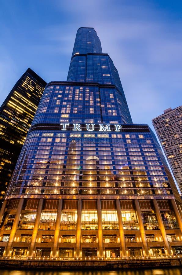 Hôtel international et tour Chicago d'atout images libres de droits