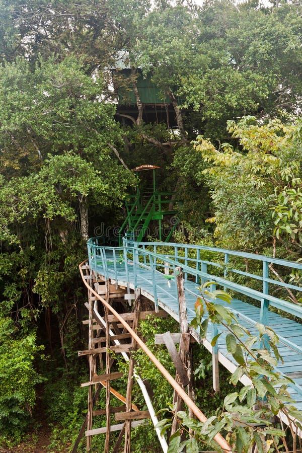 Hôtel Manaus Brésil de tours d'Ariau Amazone image stock