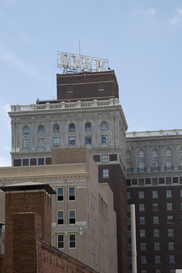 Hôtel MAYO d'histoire à Tulsa l'Oklahoma Etats-Unis photographie stock libre de droits