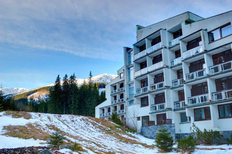 Hôtel populaire à la ressource de Jasna photos libres de droits