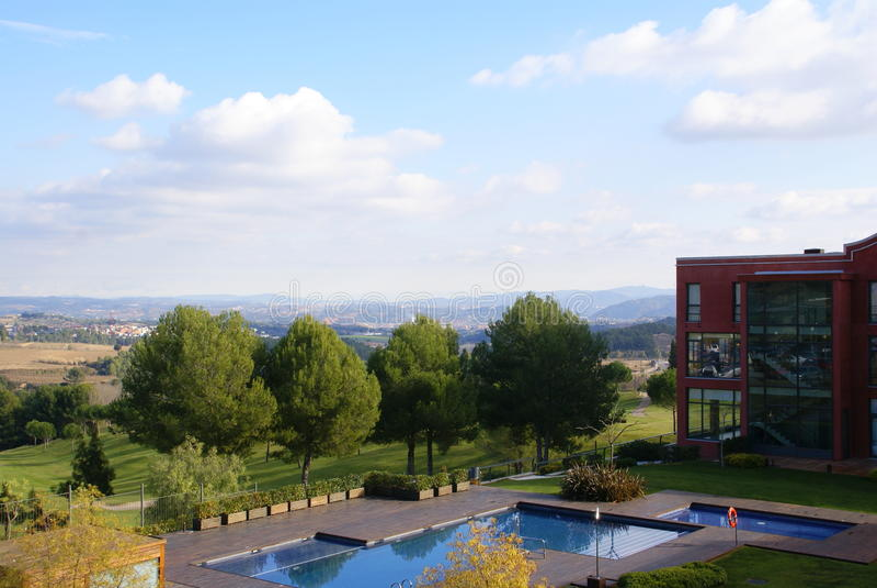 Hôtel près de Montserrat images stock