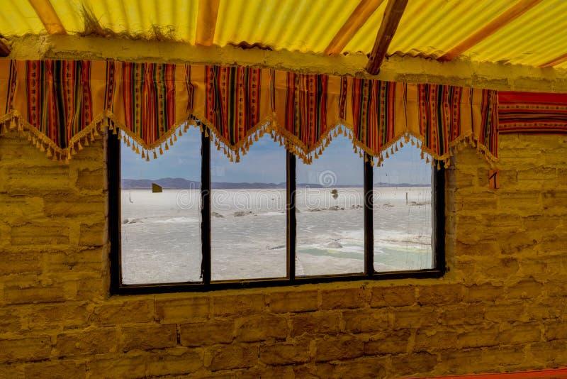 Hôtel Salar de Uyuni Desert Altiplano de sel photos libres de droits