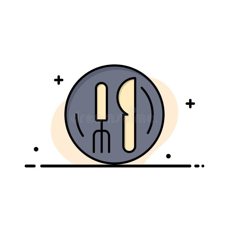 Hôtel, service, couteau, affaires Logo Template de plat couleur plate illustration de vecteur