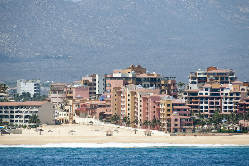 Hôtels dans Cabo San Lucas photo libre de droits