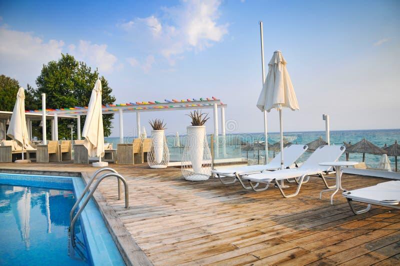 Hôtels de luxe en Grèce photographie stock