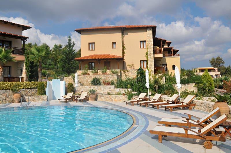 Hôtels de luxe en Grèce images libres de droits