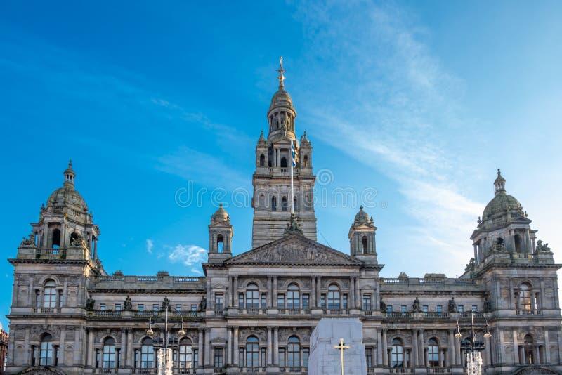 Hôtels de Ville de Glasgow en Ecosse photos stock