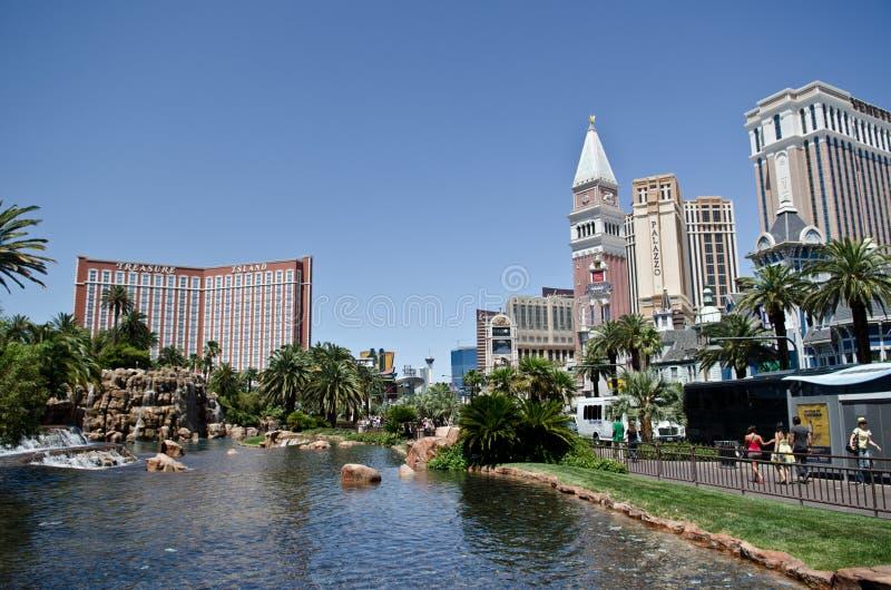 Hôtels et casinos de Las Vegas photo stock