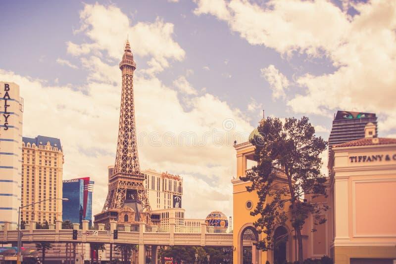 Hôtels et stations de vacances de Las Vegas sur Sunny Day image libre de droits
