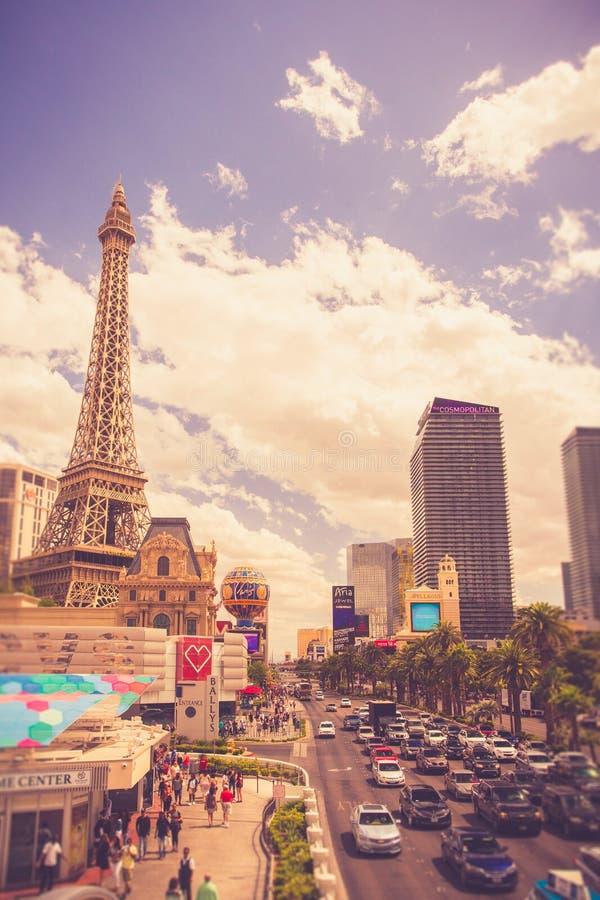 Hôtels et stations de vacances de Las Vegas sur Sunny Day photo libre de droits