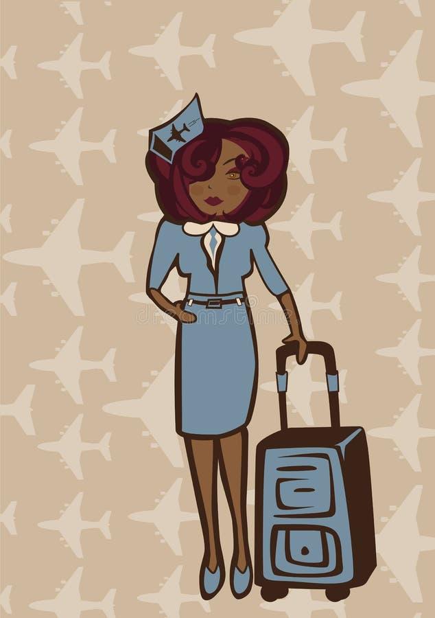 Hôtesse illustration de vecteur