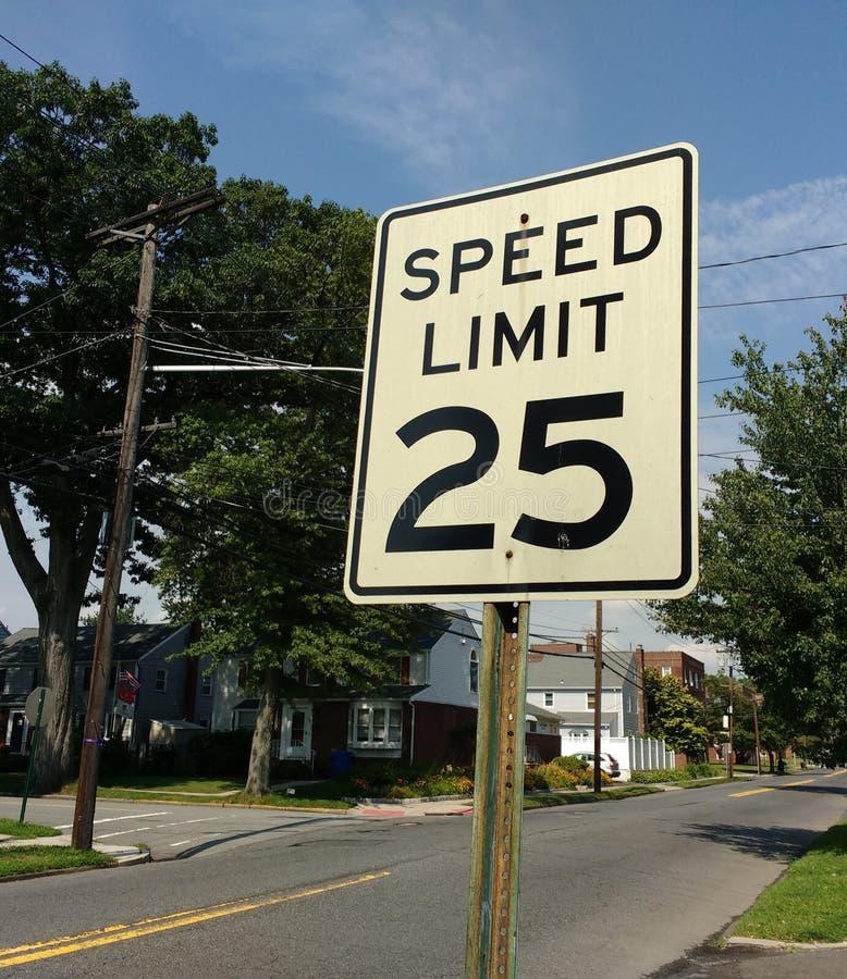 Höchstgeschwindigkeit 25 MPH stockfoto