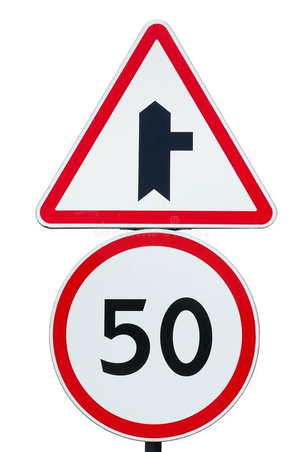 Höchstgeschwindigkeitzeichen stockbild