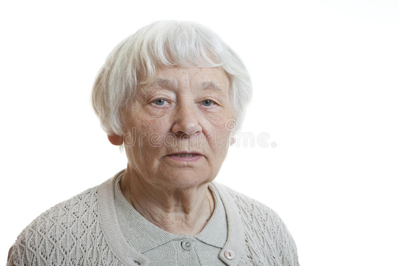 hög allvarlig kvinna arkivfoton
