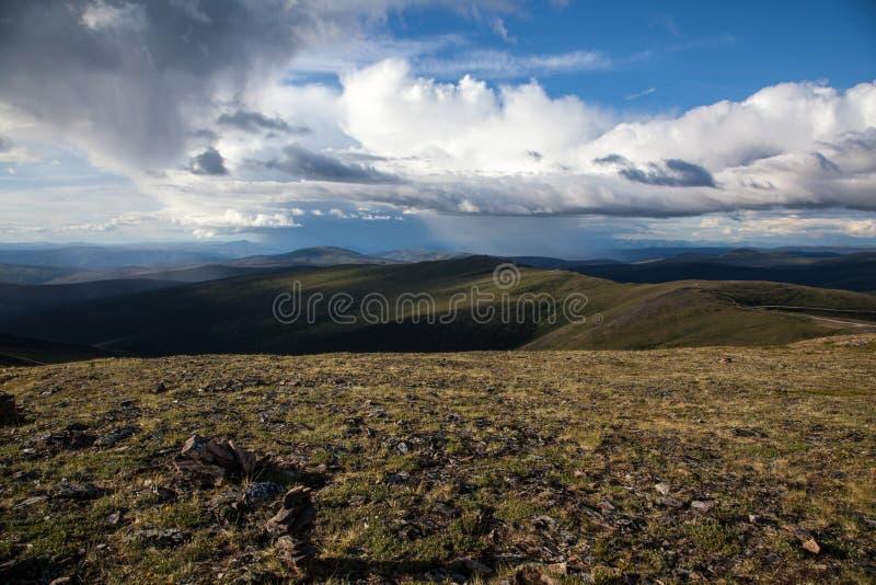 Hög alpin tundra royaltyfri fotografi