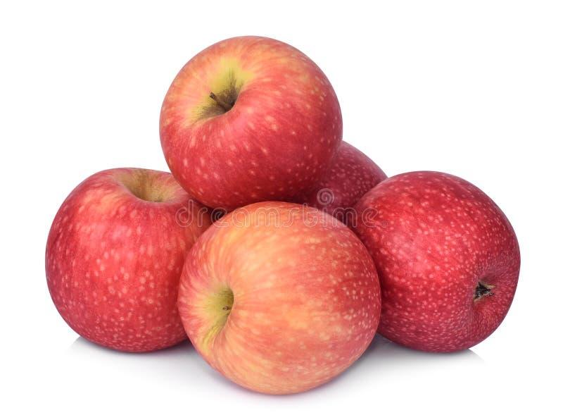 Hög av äpplet för rosa dam som isoleras på vit royaltyfri foto