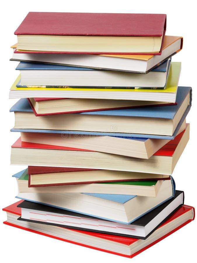 Hög av böcker arkivbild