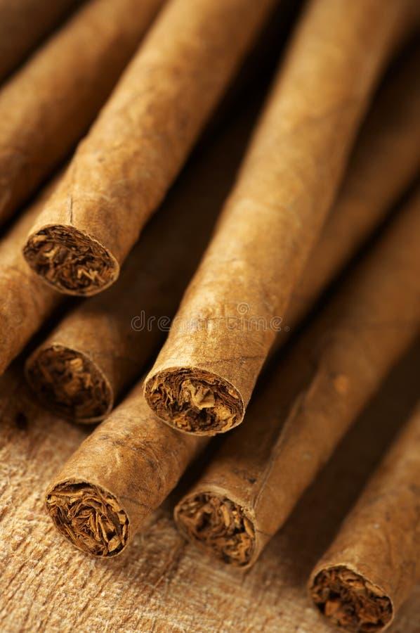 Hög av cigarrer 库存照片