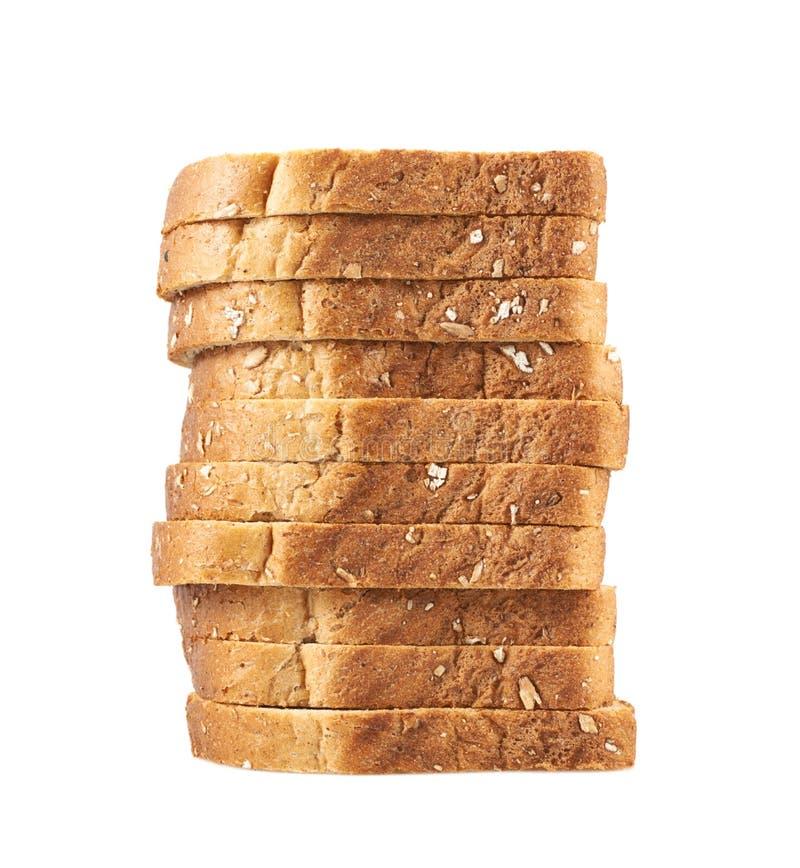 Hög av de skivade brödrostade bröden arkivbild