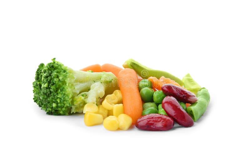 Hög av djupfrysta grönsaker royaltyfri foto
