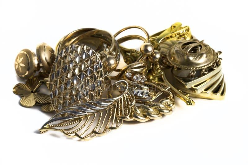 Guld- smycken arkivfoto