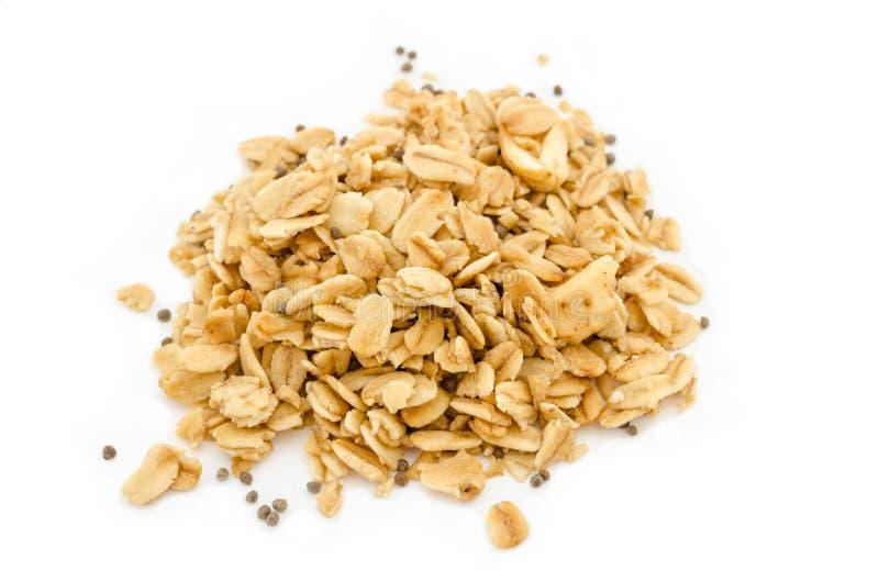 Hög av granolasädesslag royaltyfri foto
