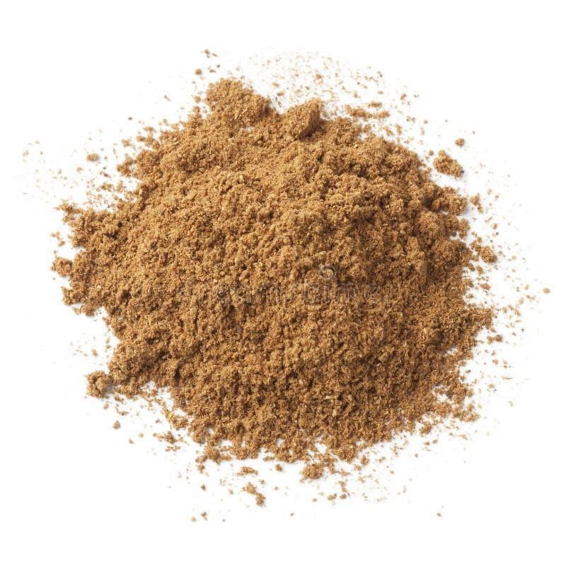 Hög av jordfem-krydda pulver royaltyfria foton
