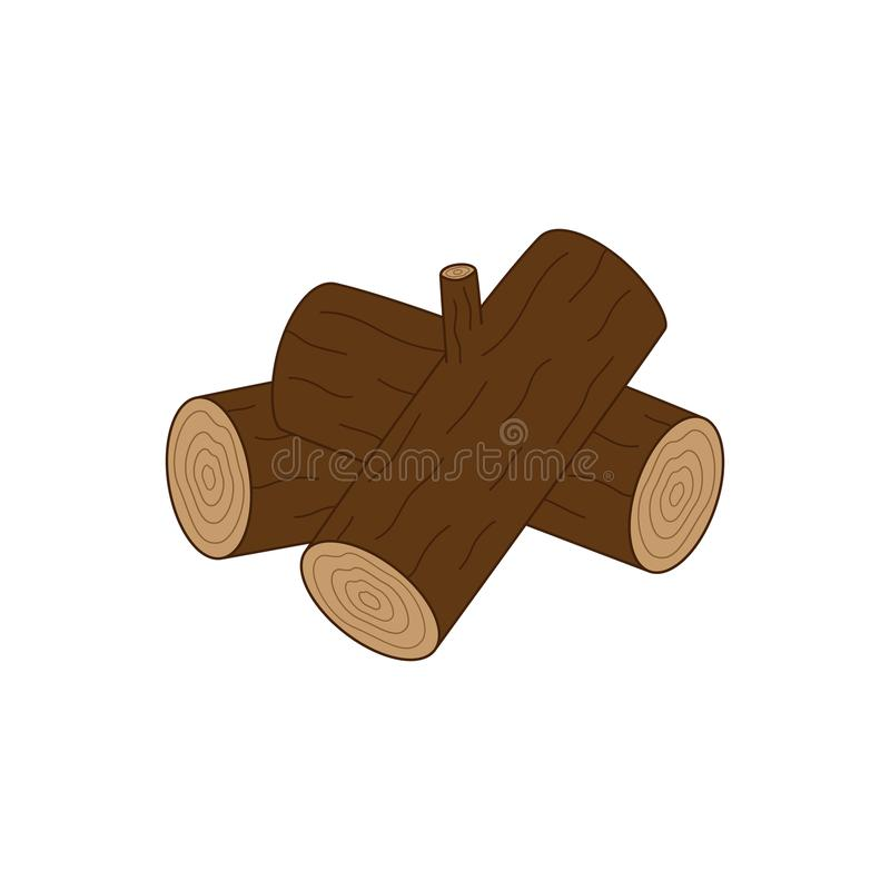 Hög av journaler, wood vektorsymbol royaltyfri illustrationer