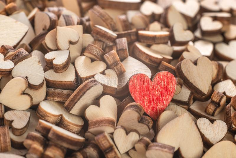 Hög av liten hjärta arkivfoto
