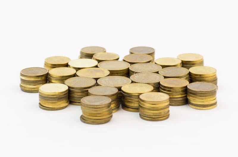Hög av mynt fotografering för bildbyråer