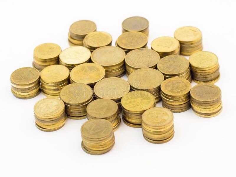 Hög av mynt royaltyfria foton