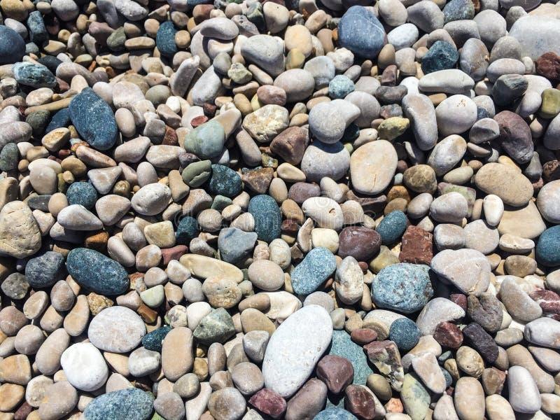 Hög av Pebbles arkivfoto