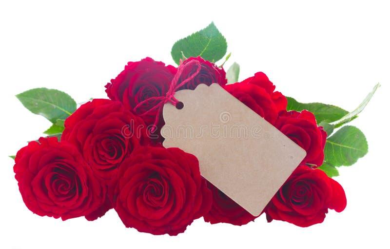 Hög av röda rosor arkivbilder