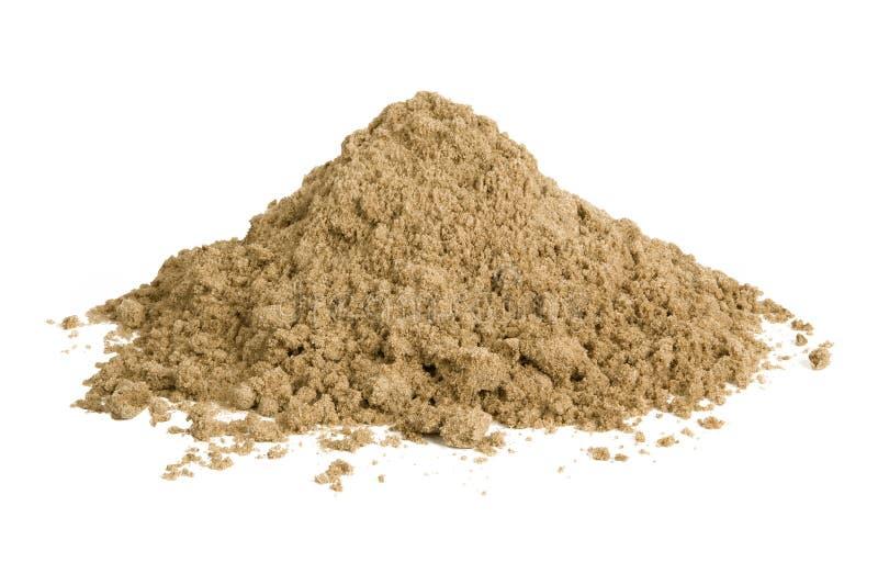Hög av sand royaltyfri bild