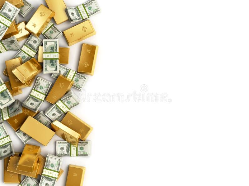 Hög av skatten stock illustrationer
